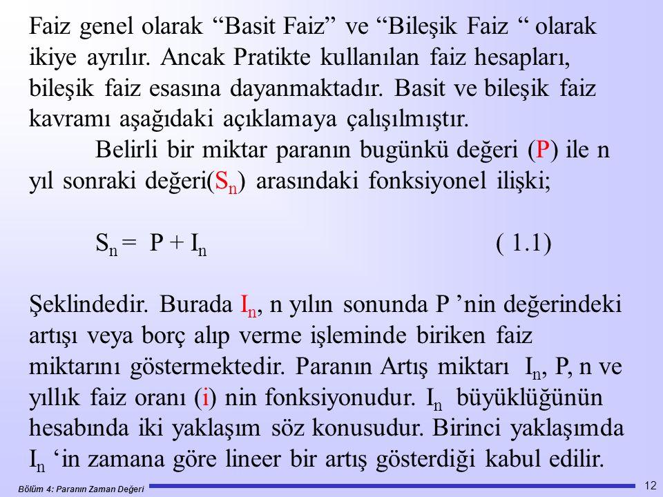 Faiz genel olarak Basit Faiz ve Bileşik Faiz olarak ikiye ayrılır