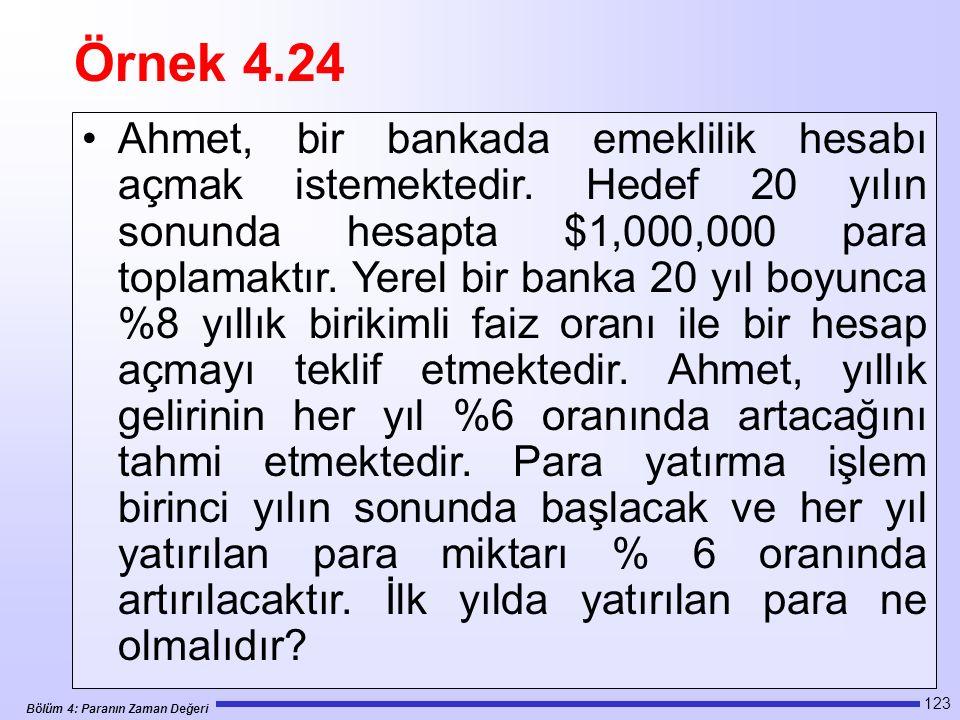 Örnek 4.24