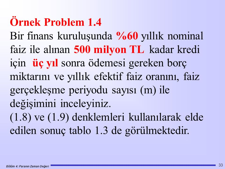 Örnek Problem 1.4