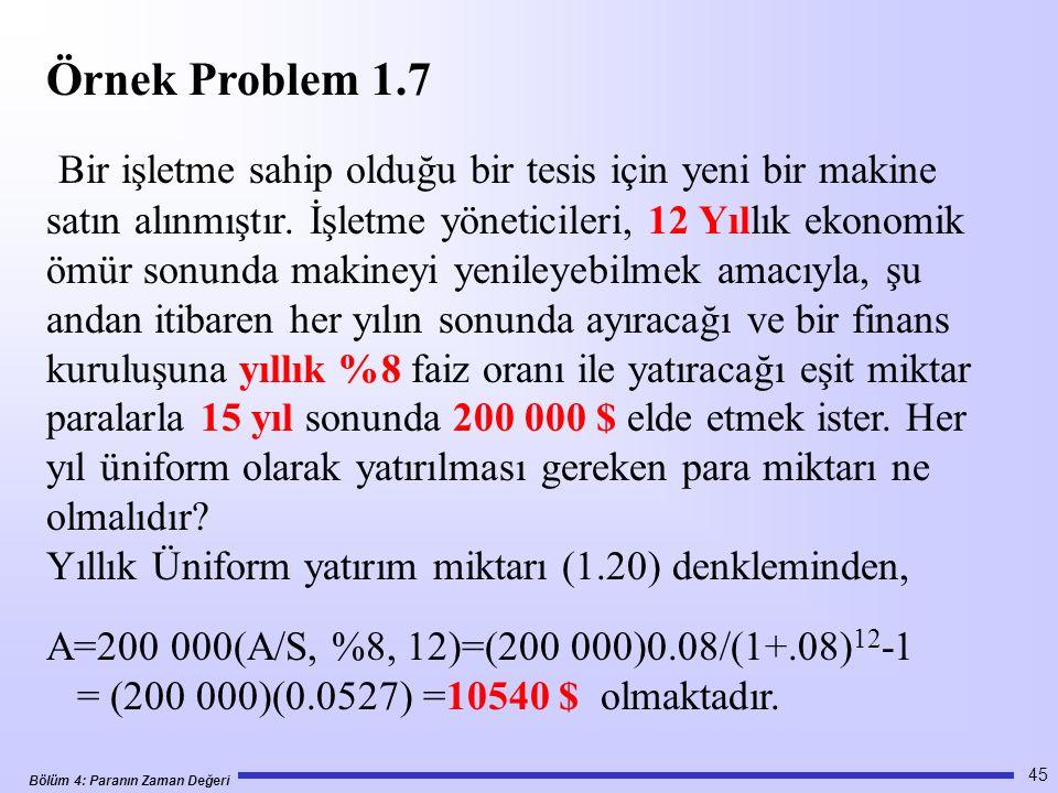 Örnek Problem 1.7