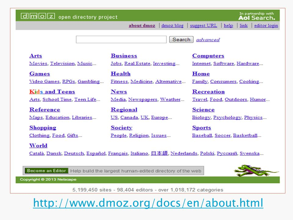http://www.dmoz.org/docs/en/about.html