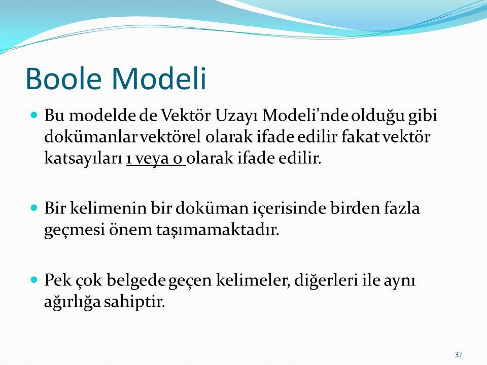 Boole Modeli
