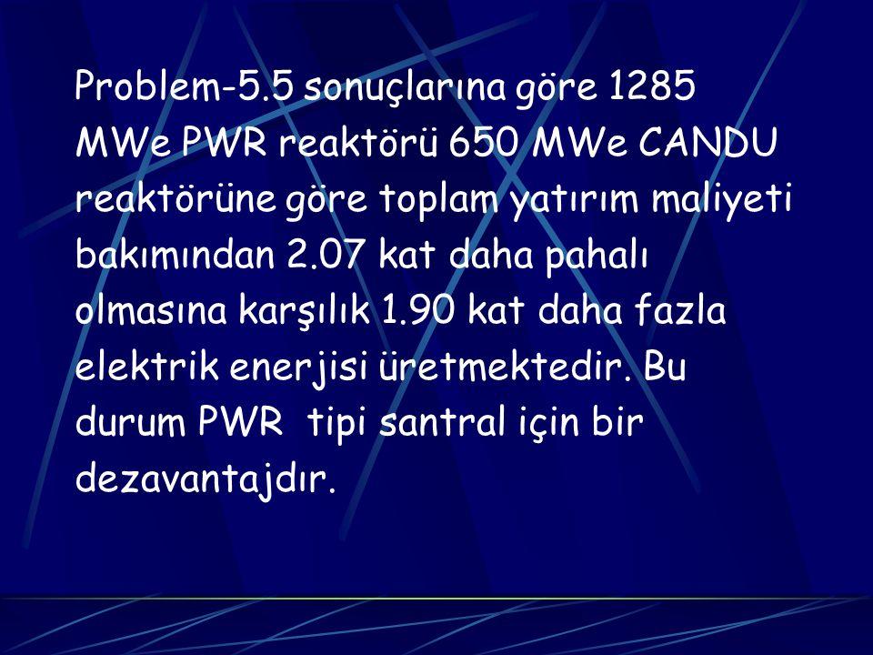 Problem-5.5 sonuçlarına göre 1285