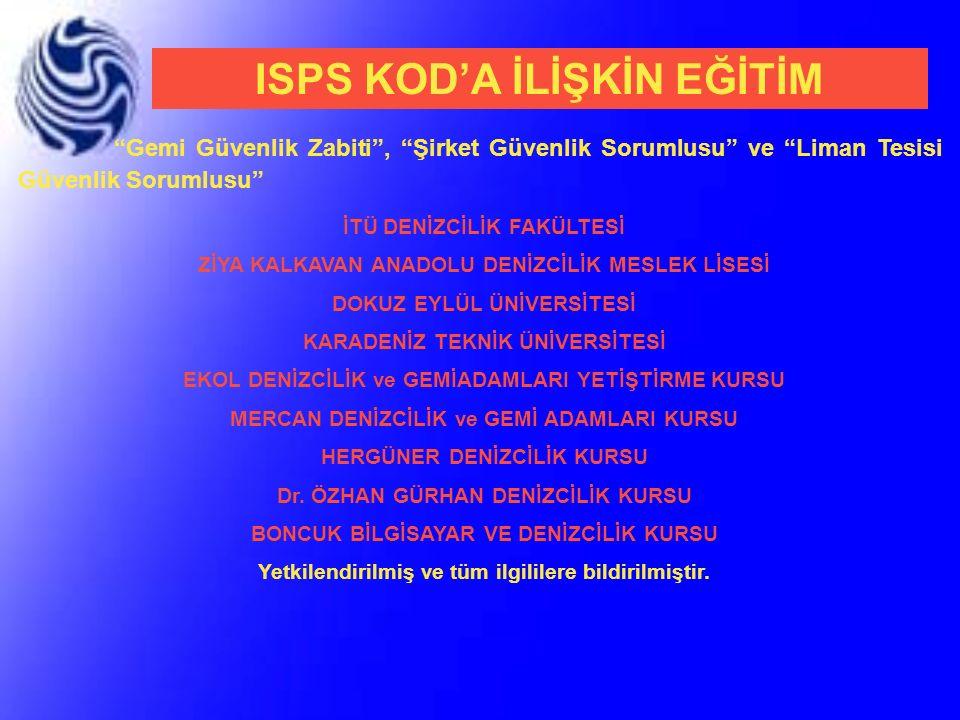 ISPS KOD'A İLİŞKİN EĞİTİM