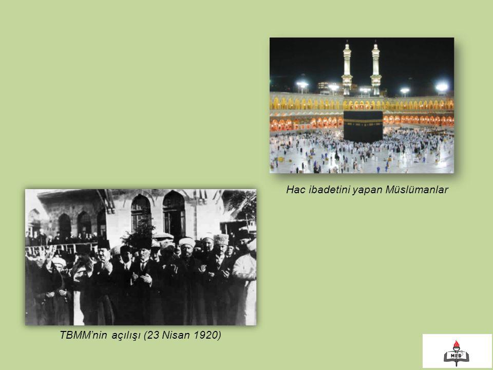 Hac ibadetini yapan Müslümanlar
