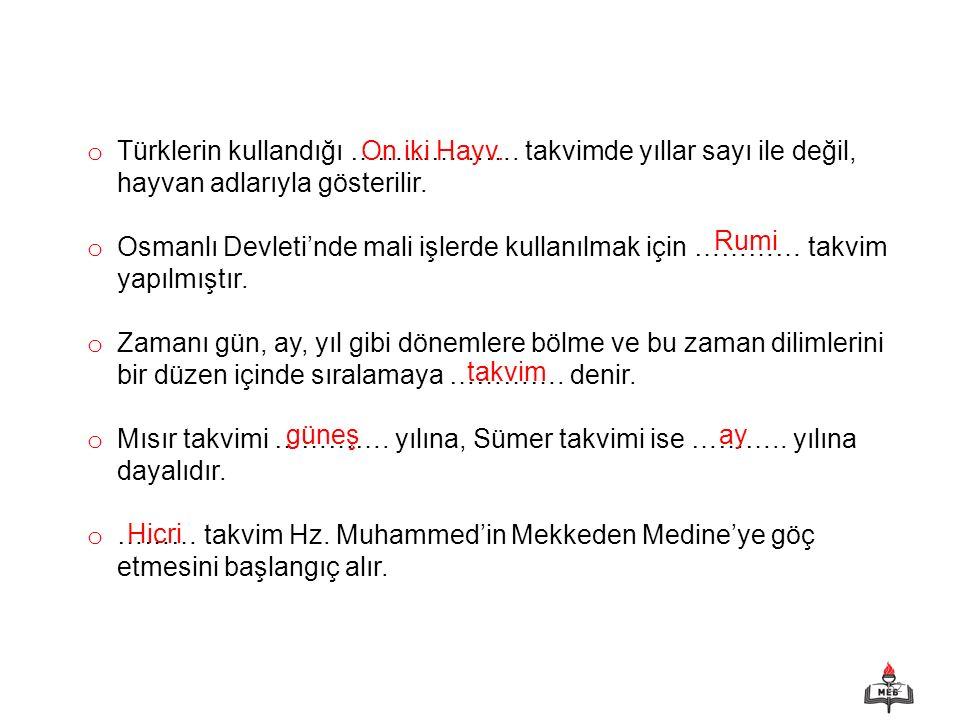 Türklerin kullandığı ………………