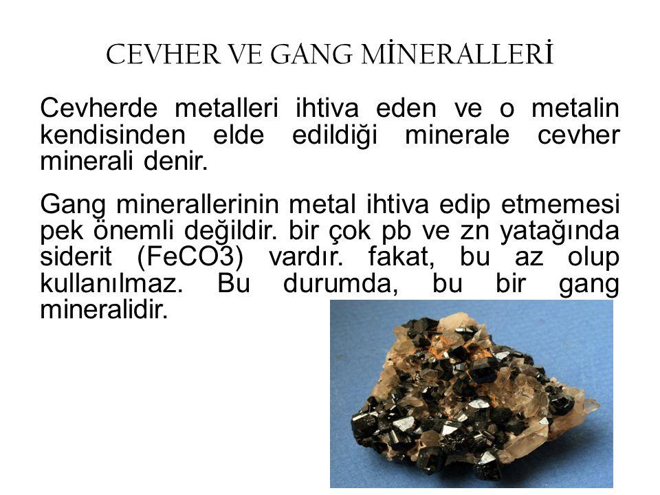 CEVHER VE GANG MİNERALLERİ