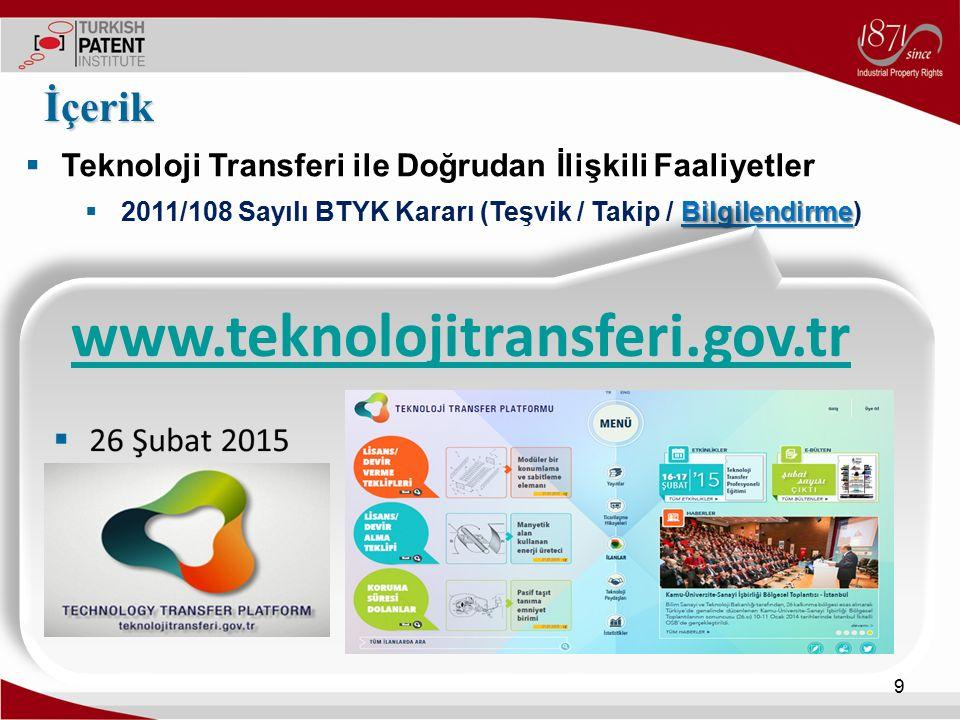 www.teknolojitransferi.gov.tr İçerik