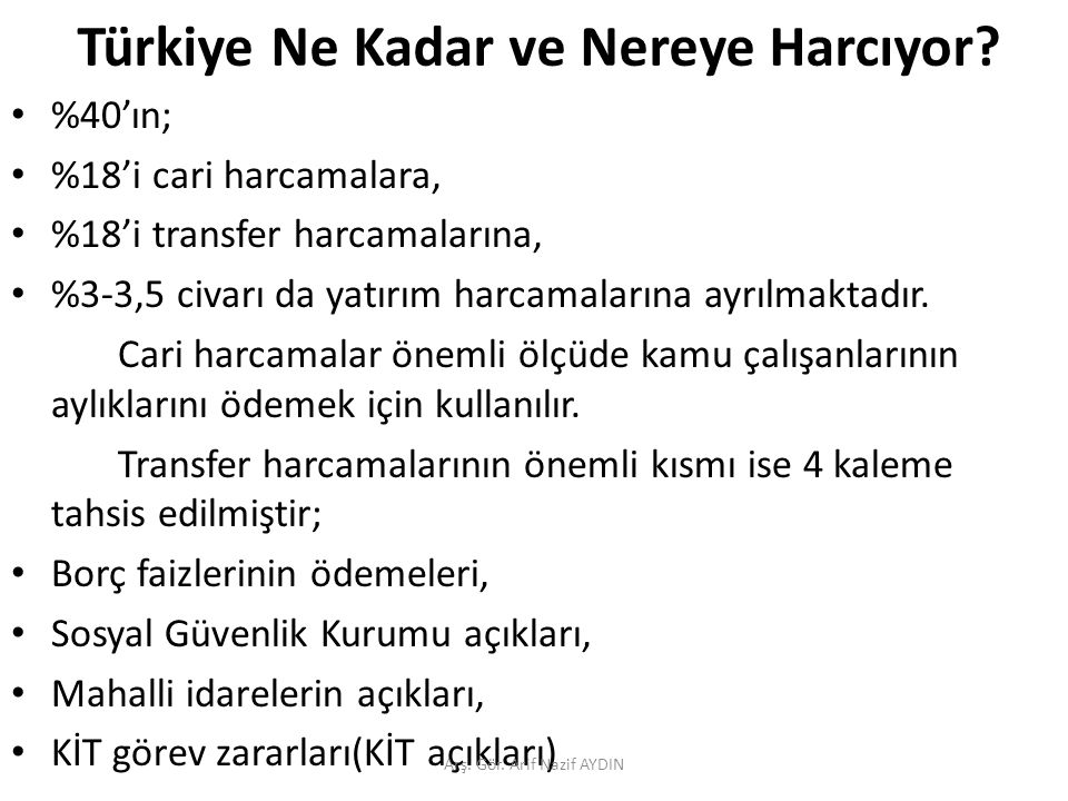 Türkiye Ne Kadar ve Nereye Harcıyor