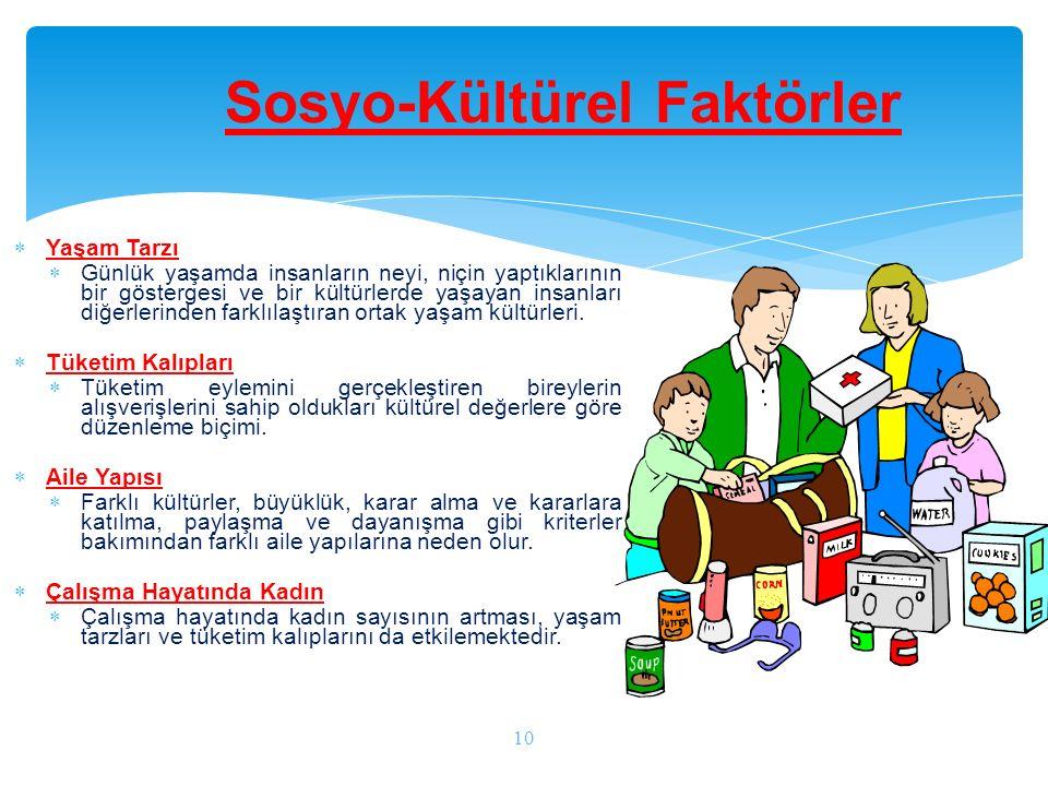 Sosyo-Kültürel Faktörler
