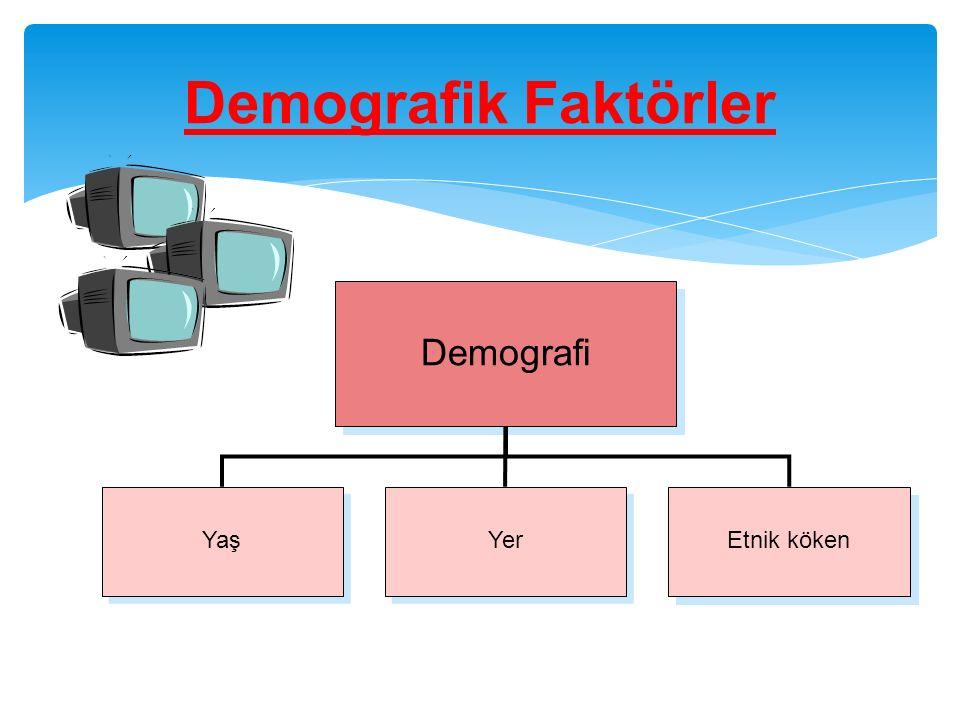 Demografik Faktörler Demografi Yaş Yer Etnik köken Chapter 3