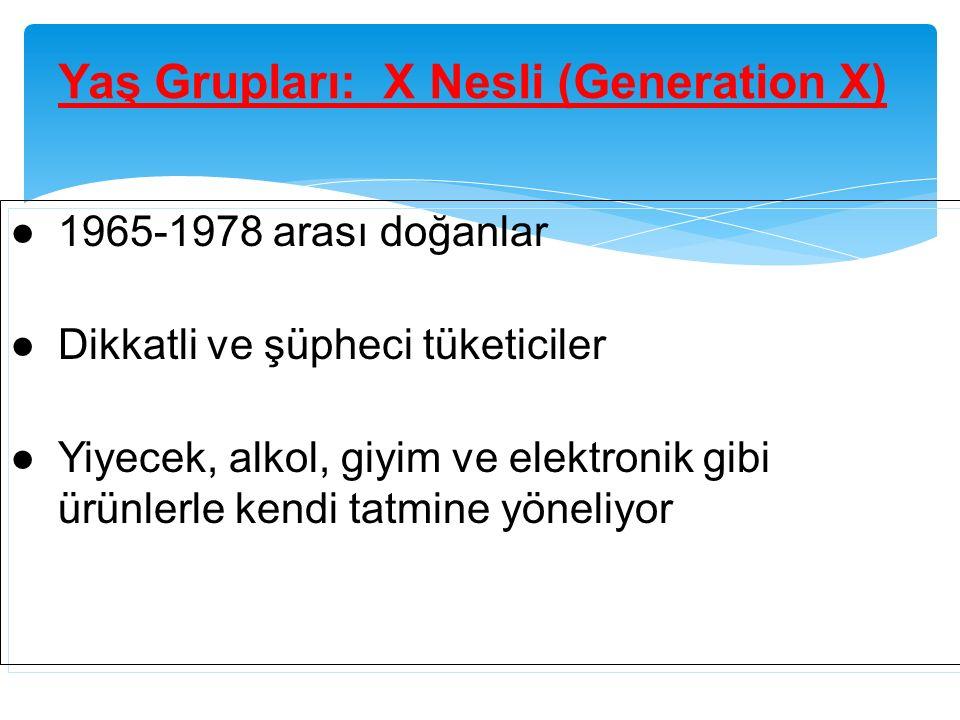 Yaş Grupları: X Nesli (Generation X)