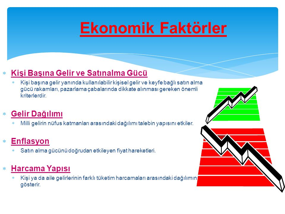 Ekonomik Faktörler Kişi Başına Gelir ve Satınalma Gücü Gelir Dağılımı