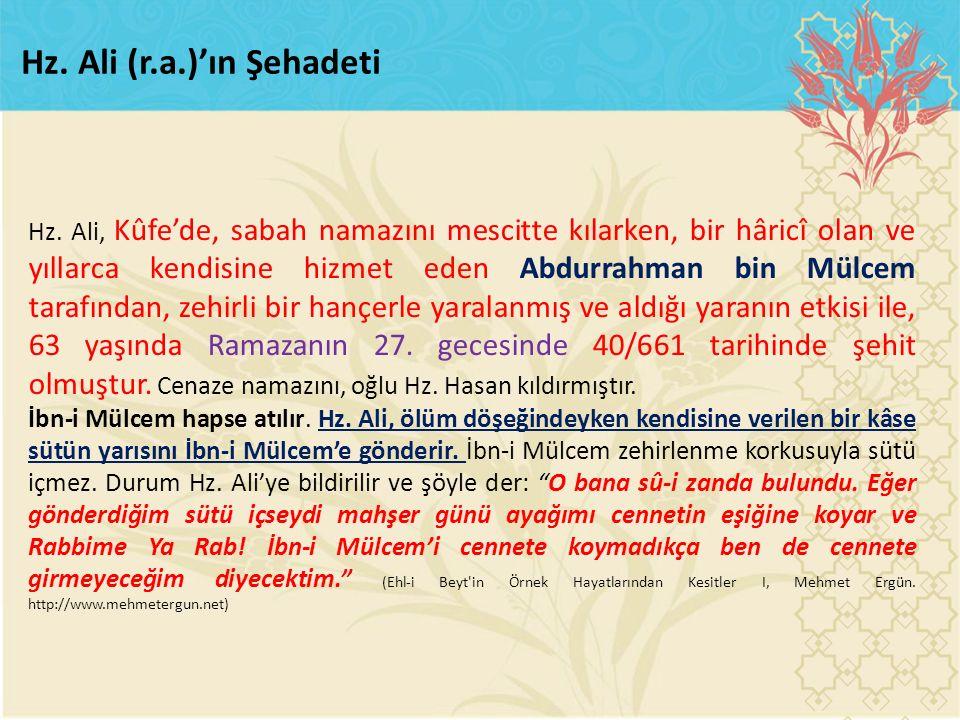 Hz. Ali (r.a.)'ın Şehadeti