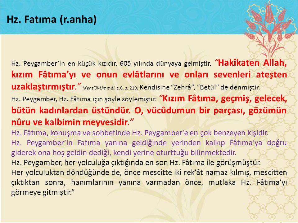 Hz. Fatıma (r.anha)