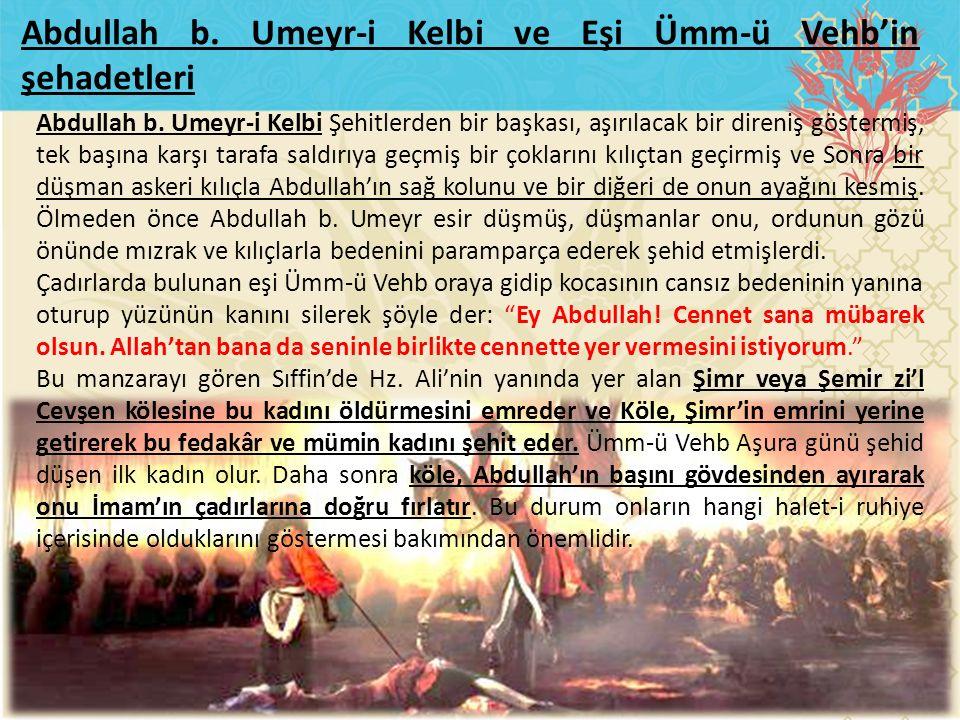 Abdullah b. Umeyr-i Kelbi ve Eşi Ümm-ü Vehb'in şehadetleri