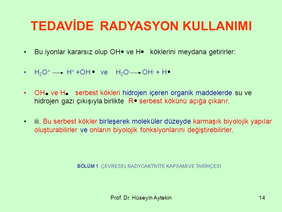 TEDAVİDE RADYASYON KULLANIMI