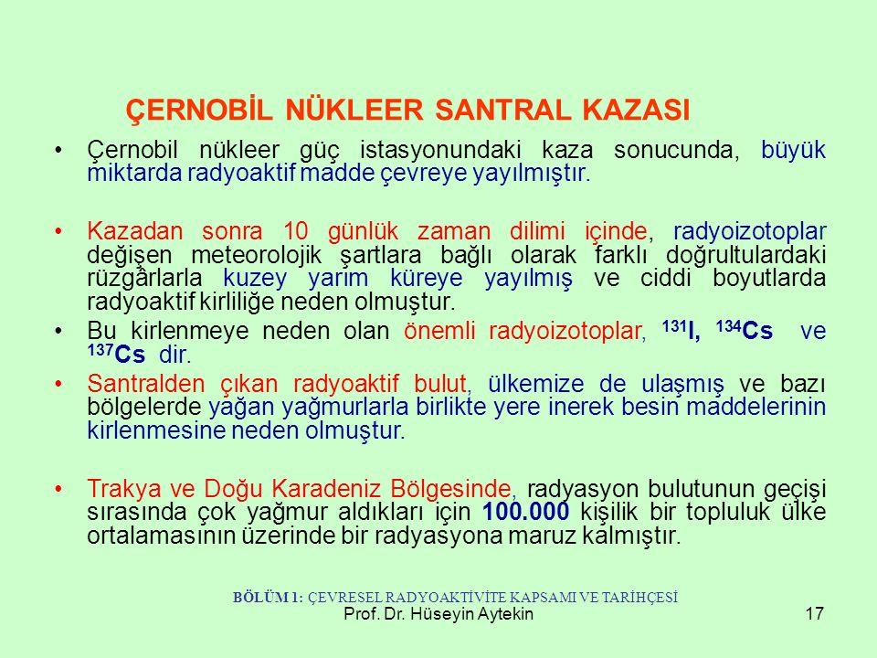 ÇERNOBİL NÜKLEER SANTRAL KAZASI