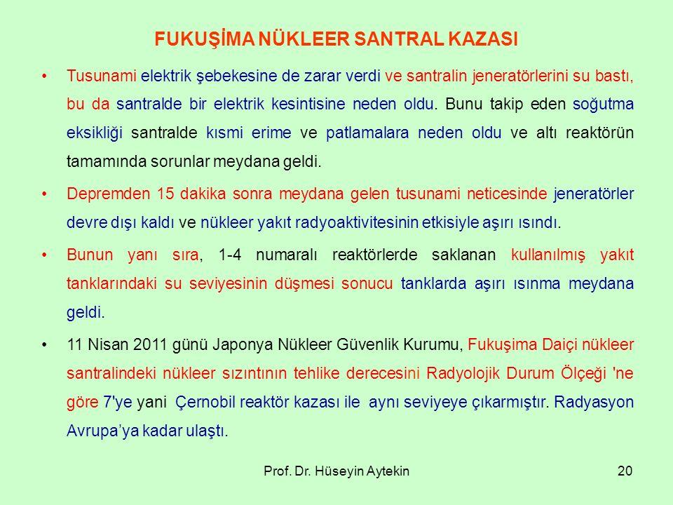 FUKUŞİMA NÜKLEER SANTRAL KAZASI