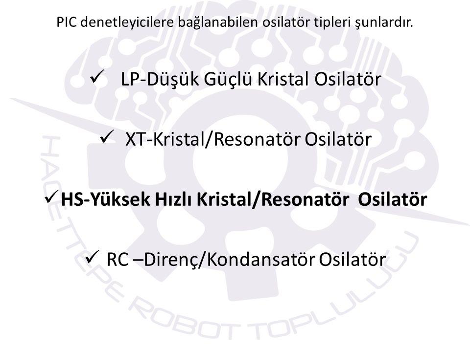 HS-Yüksek Hızlı Kristal/Resonatör Osilatör