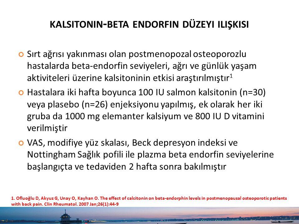 kalsitonin-beta endorfin düzeyi ilişkisi