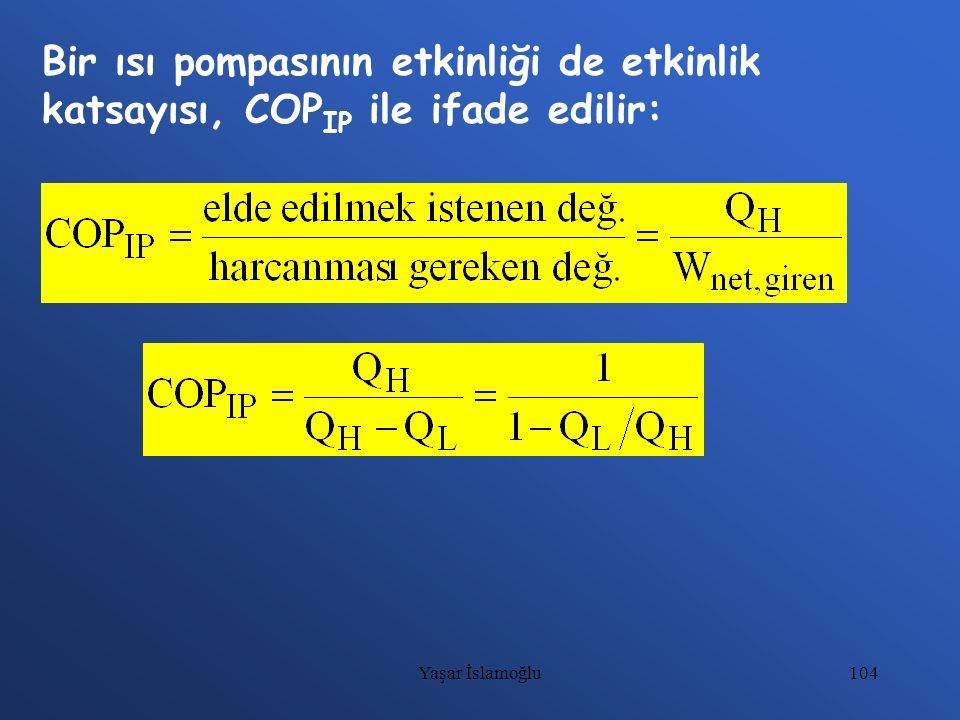 Bir ısı pompasının etkinliği de etkinlik katsayısı, COPIP ile ifade edilir: