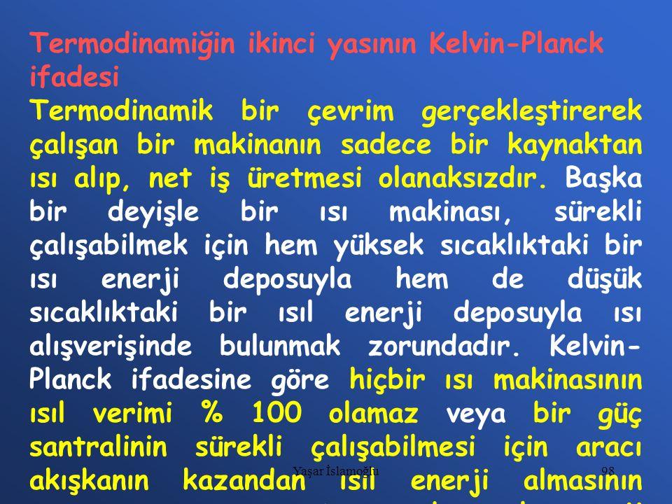 Termodinamiğin ikinci yasının Kelvin-Planck ifadesi