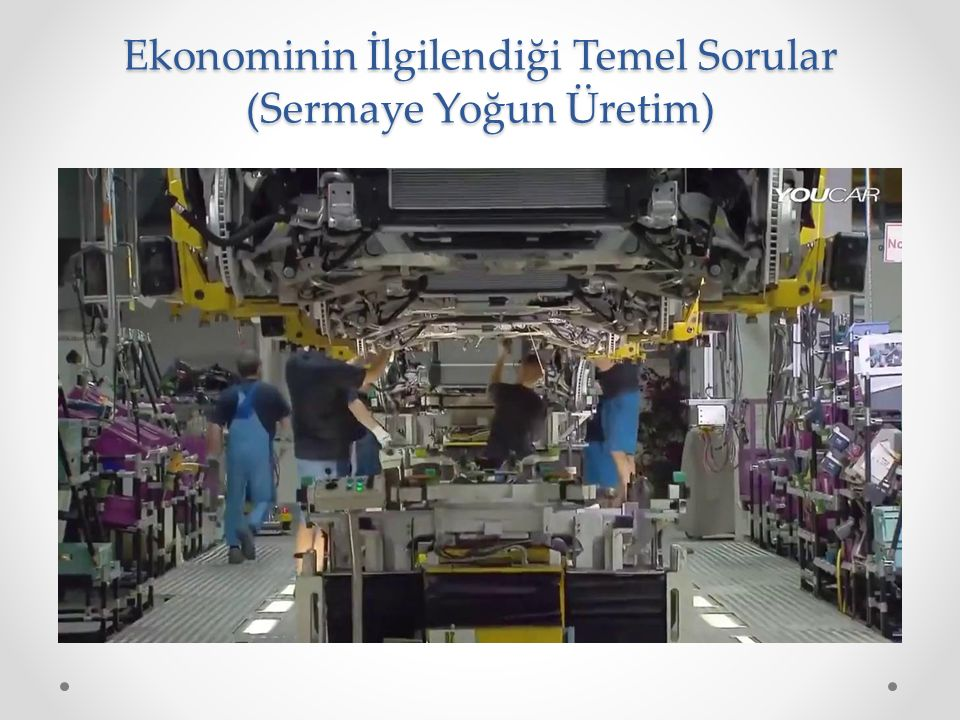 Ekonominin İlgilendiği Temel Sorular (Sermaye Yoğun Üretim)