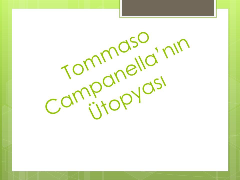 Tommaso Campanella'nın Ütopyası