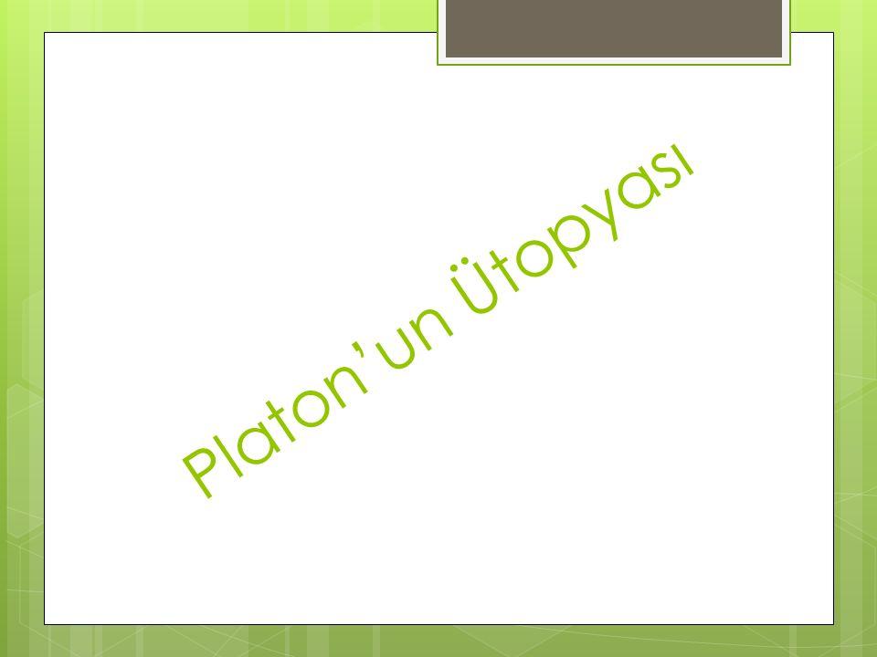 Platon'un Ütopyası