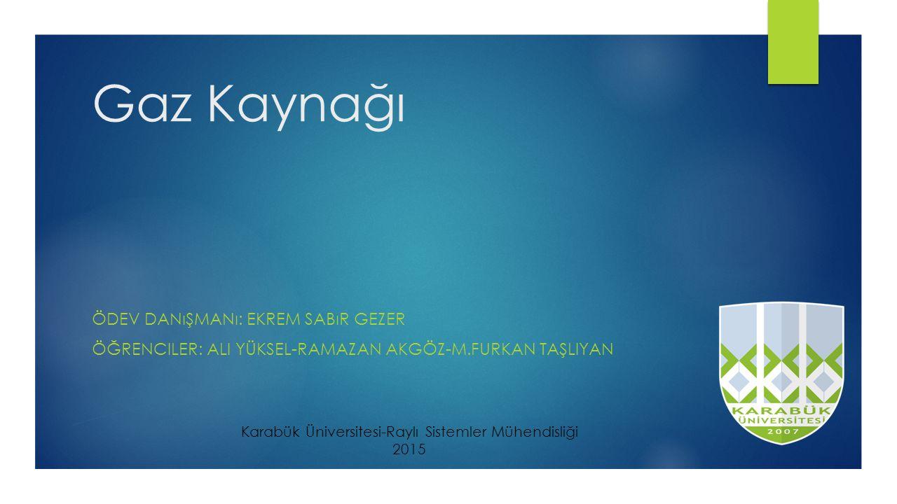 Karabük Üniversitesi-Raylı Sistemler Mühendisliği