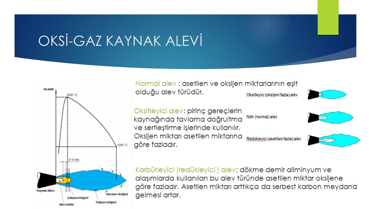 OKSİ-GAZ KAYNAK ALEVİ Normal alev : asetilen ve oksijen miktarlarının eşit olduğu alev türüdür.