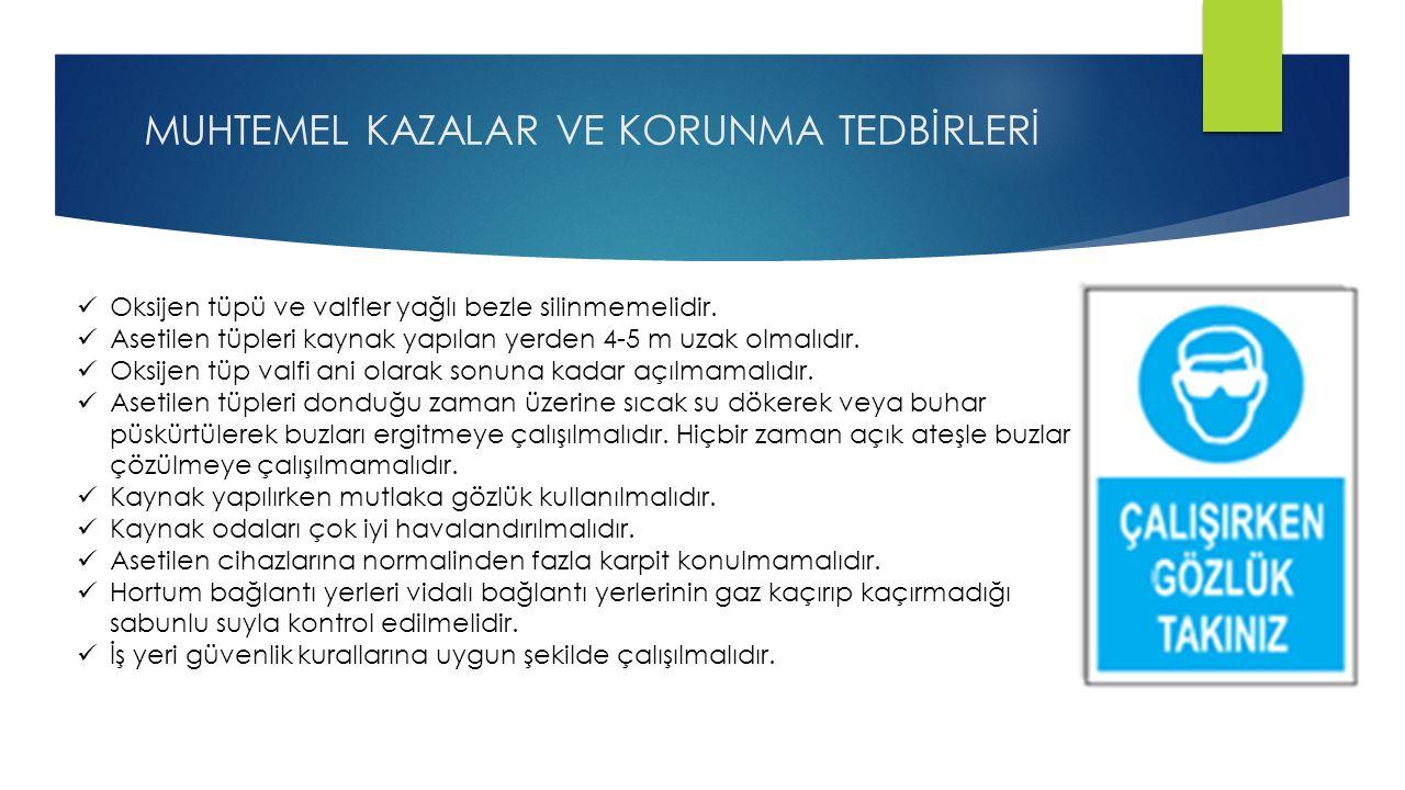 MUHTEMEL KAZALAR VE KORUNMA TEDBİRLERİ
