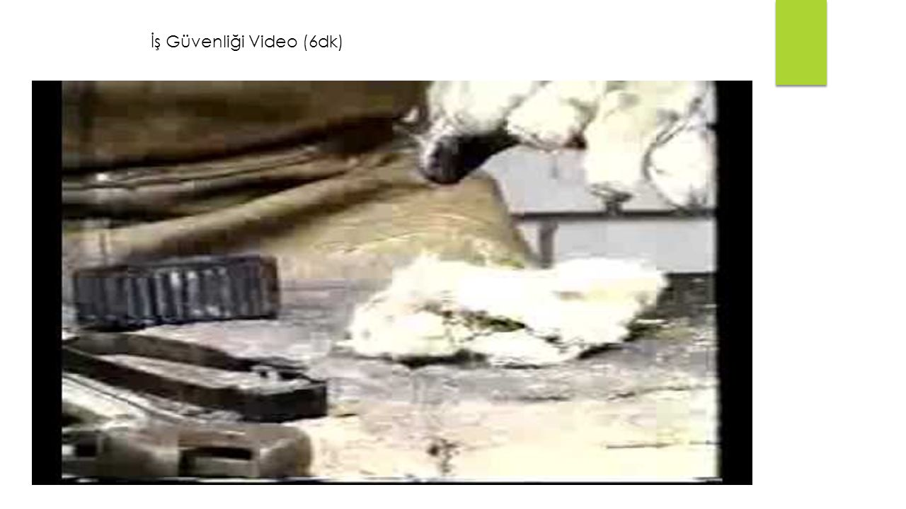 İş Güvenliği Video (6dk)
