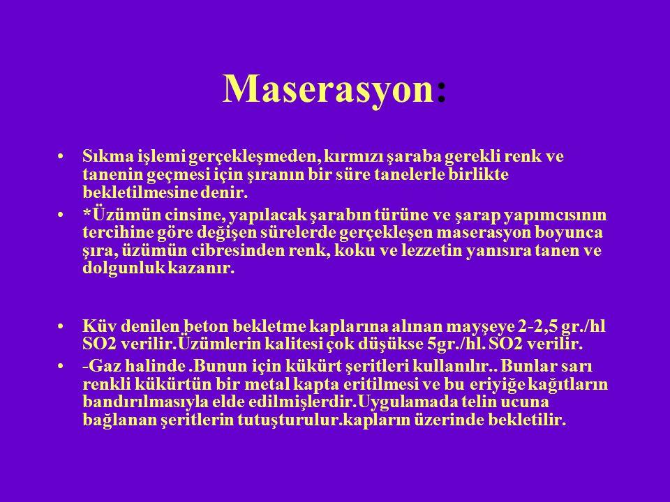 Maserasyon: