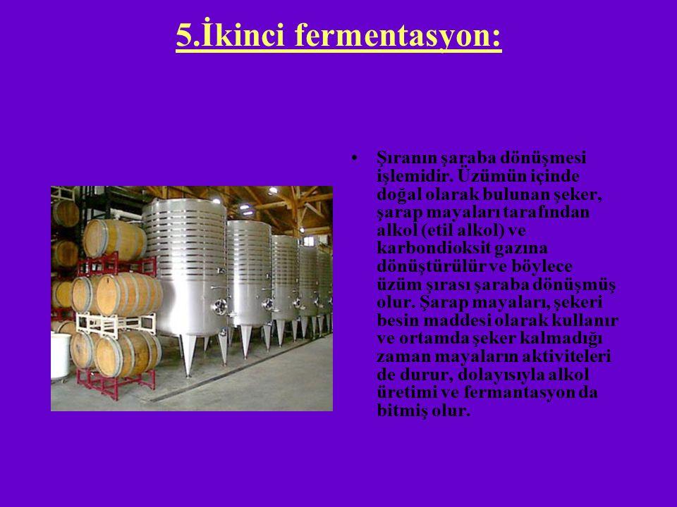 5.İkinci fermentasyon: