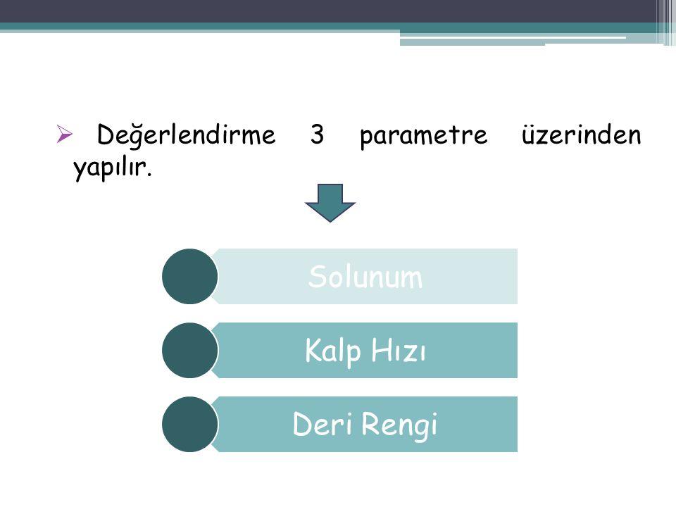 Değerlendirme 3 parametre üzerinden yapılır.