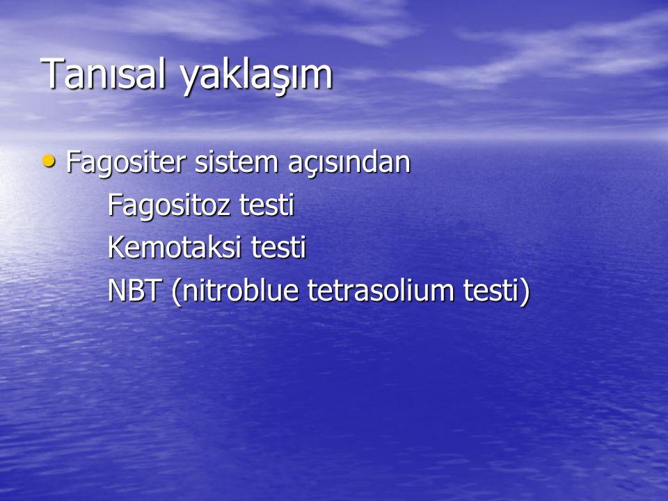 Tanısal yaklaşım Fagositer sistem açısından Fagositoz testi