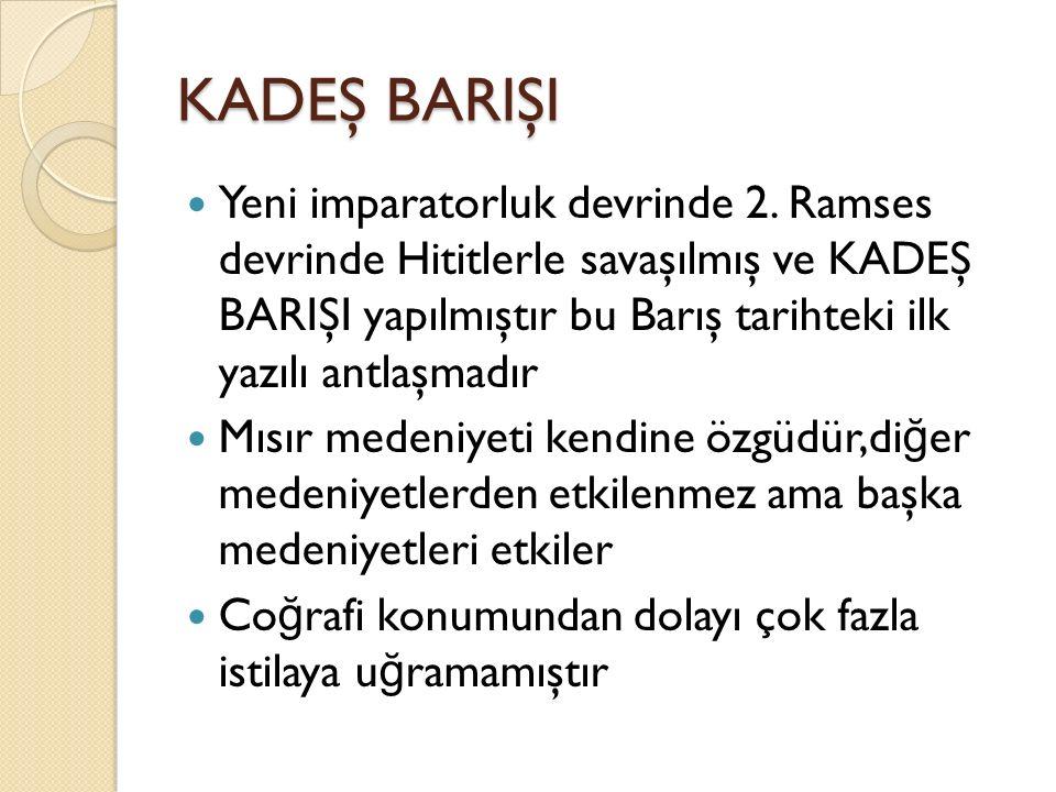 KADEŞ BARIŞI