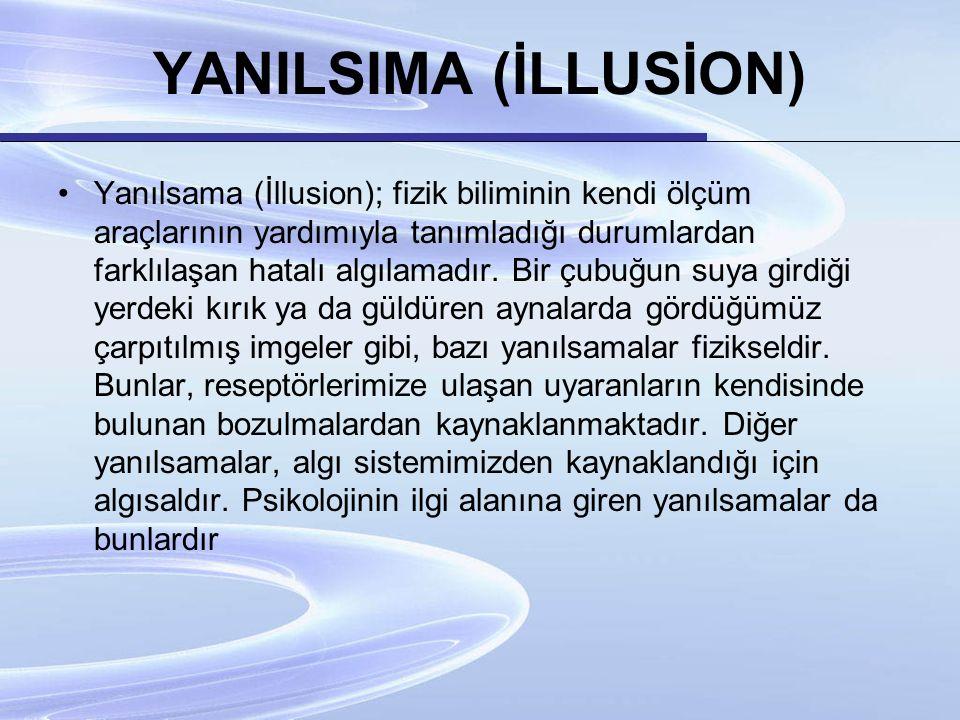 YANILSIMA (İLLUSİON)
