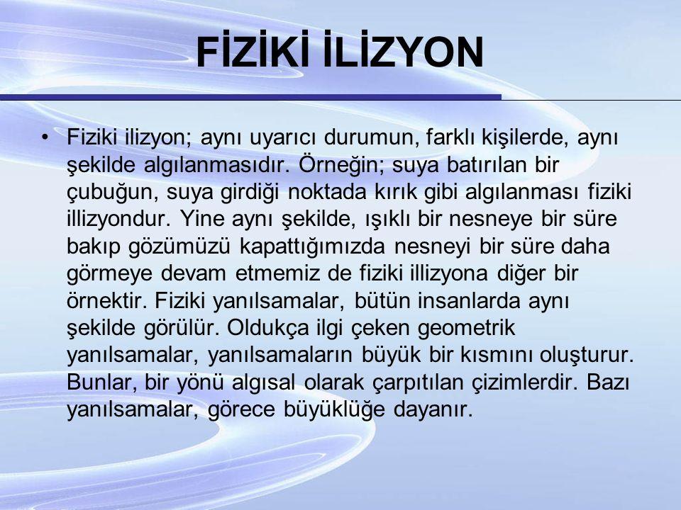 FİZİKİ İLİZYON