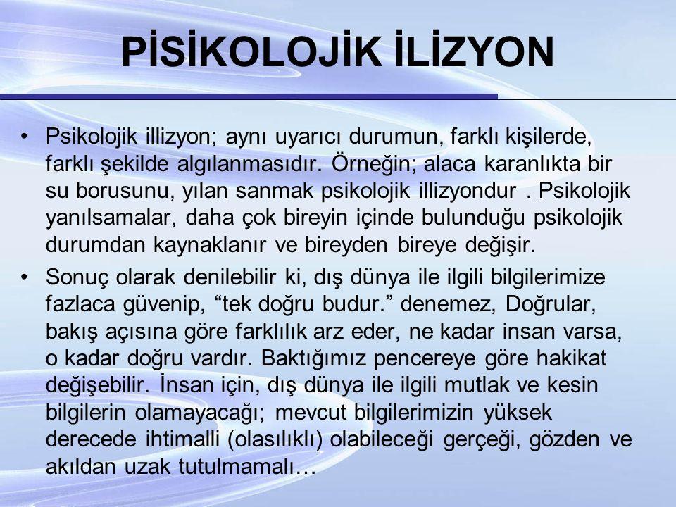 PİSİKOLOJİK İLİZYON