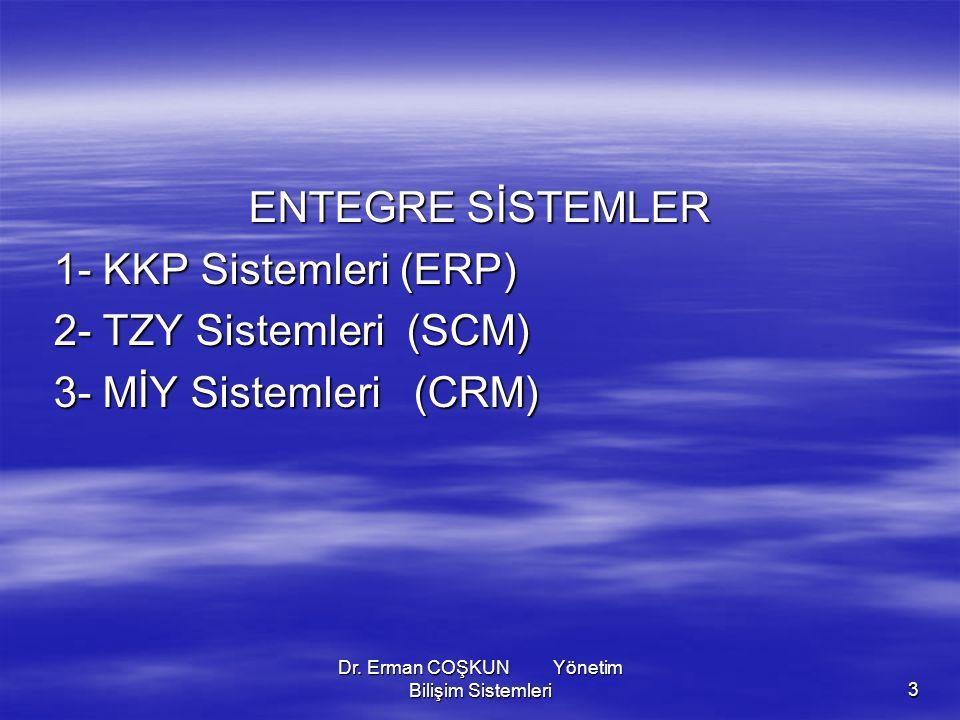 Dr. Erman COŞKUN Yönetim Bilişim Sistemleri