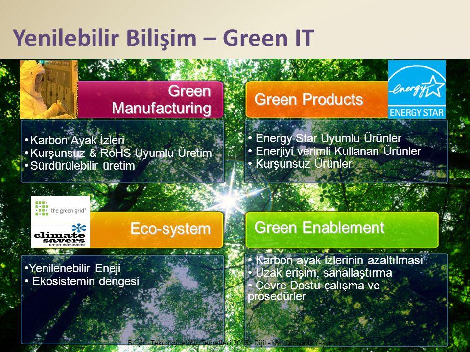 Yenilebilir Bilişim – Green IT