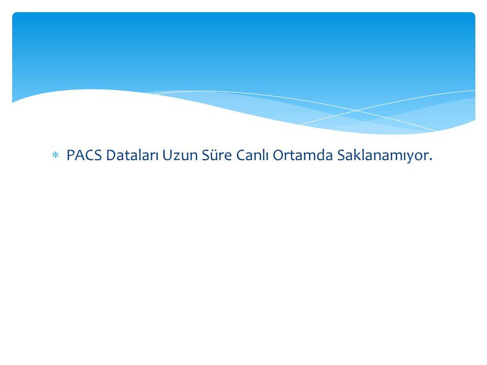 PACS Dataları Uzun Süre Canlı Ortamda Saklanamıyor.