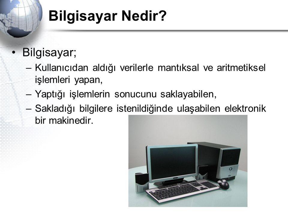 Bilgisayar Nedir Bilgisayar;