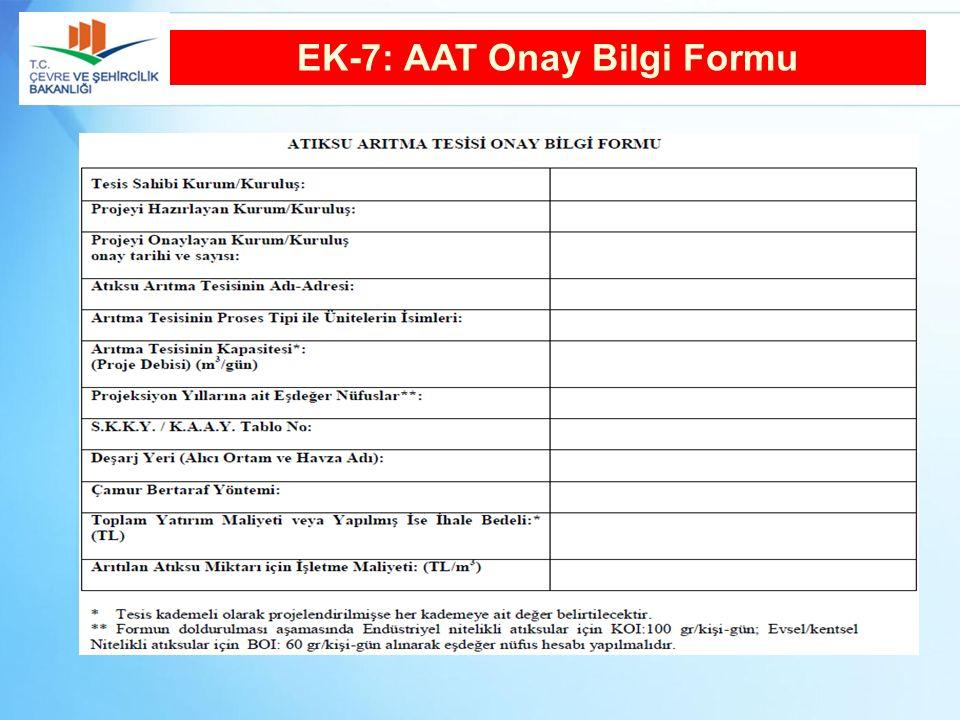 EK-7: AAT Onay Bilgi Formu