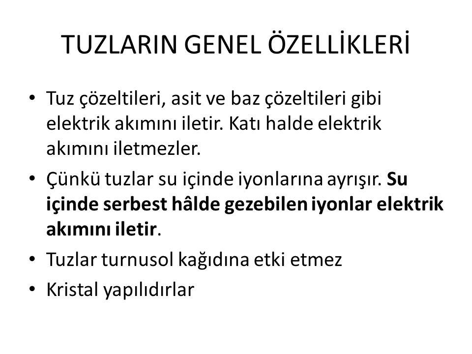 TUZLARIN GENEL ÖZELLİKLERİ