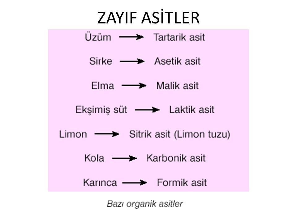 ZAYIF ASİTLER