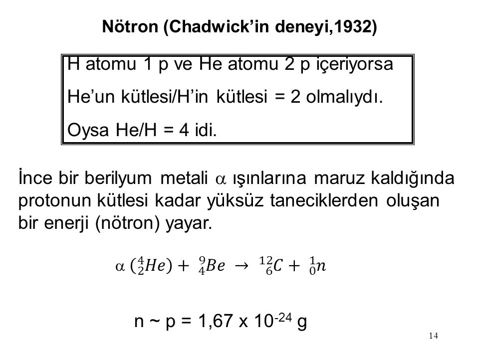 Nötron (Chadwick'in deneyi,1932)